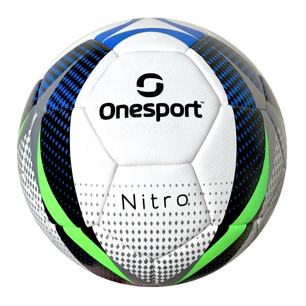 Onesport Nitro Hybrid Football Size 5 White/Green