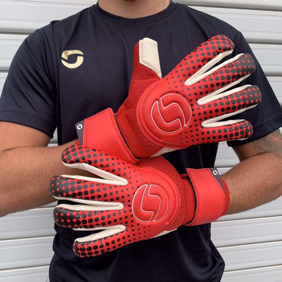 Onesport Classic 2.0 Hybrid Goalkeeper Gloves Red / White