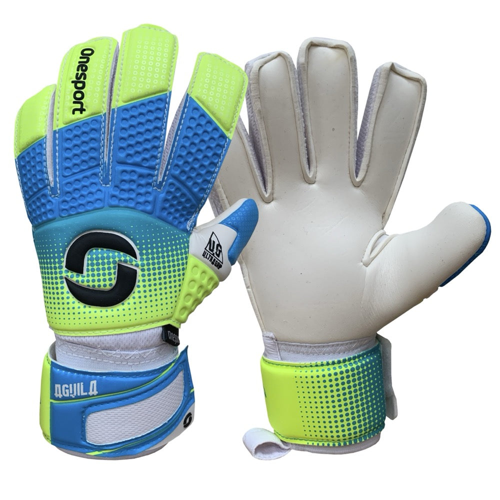 Onesport Aguila Junior Goalkeeper Gloves Volt/Cyan