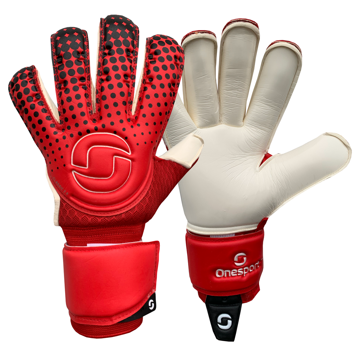 Classic 2.0 Rollfinger Goalkeeper Gloves Red/White