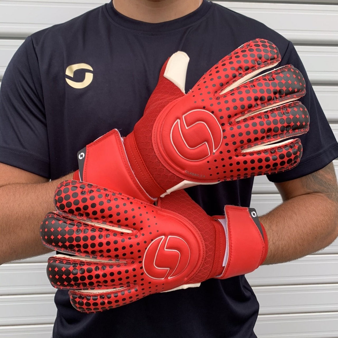 Onesport Classic 2.0 Rollfinger Goalkeeper Gloves Red / White