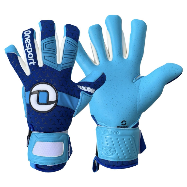 Cancerbero Negative Hybrid Goalkeeper Gloves Royal/Sky