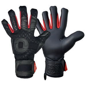 Cancerbero Negative Hybrid Goalkeeper Gloves Black/Red