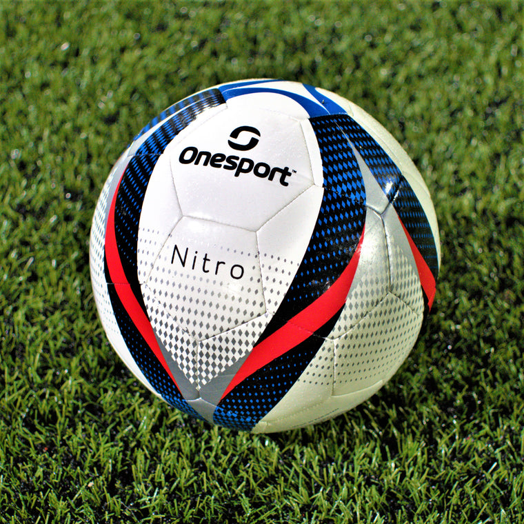 Onesport Nitro Football Size 4 White/Red