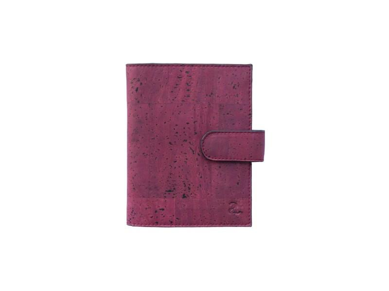 Cedar Passport Wallet - Maroon + Black - Green The Map Upcycled Recycled Fairtrade Ecofriendly