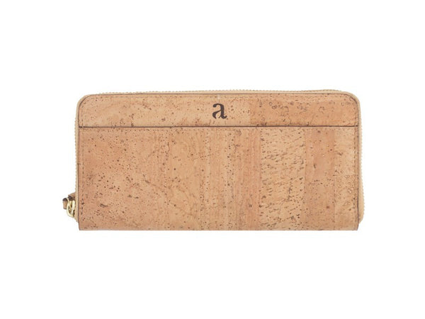 Willow Ziparound Wristlet - Natural