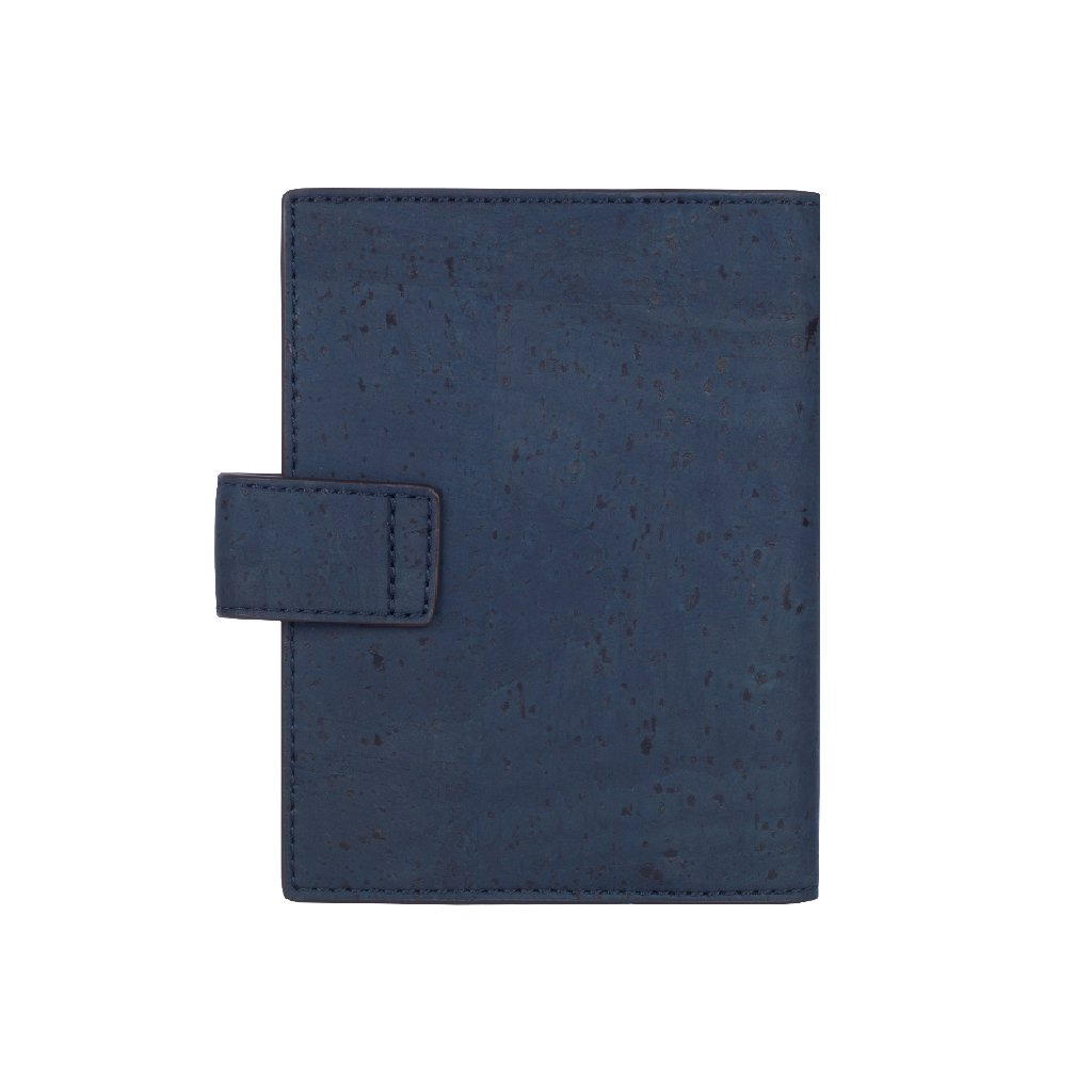 Cedar Passport Wallet - Blue + Maroon