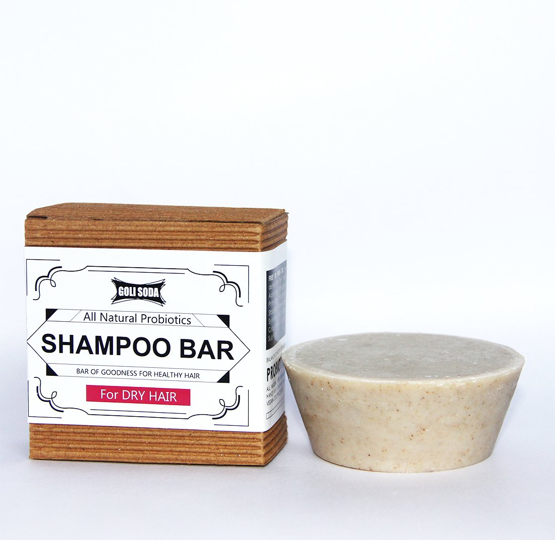 Probiotics Shampoo Bar For Dry Hair 90 gm -  All Natural/Biodegradable/Non Toxic/Cruelty Free/Palm Oil Free - Green The Map Upcycled Recycled Fairtrade Ecofriendly