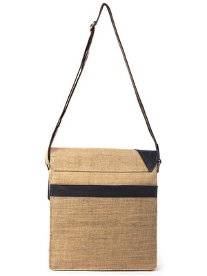 Upcycled Jute Sling Bag