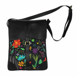Tropical Edge vegan leather bag - Green The Map Upcycled Recycled Fairtrade Ecofriendly