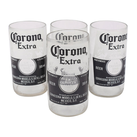 Upcycled  corona glass (set of 4)
