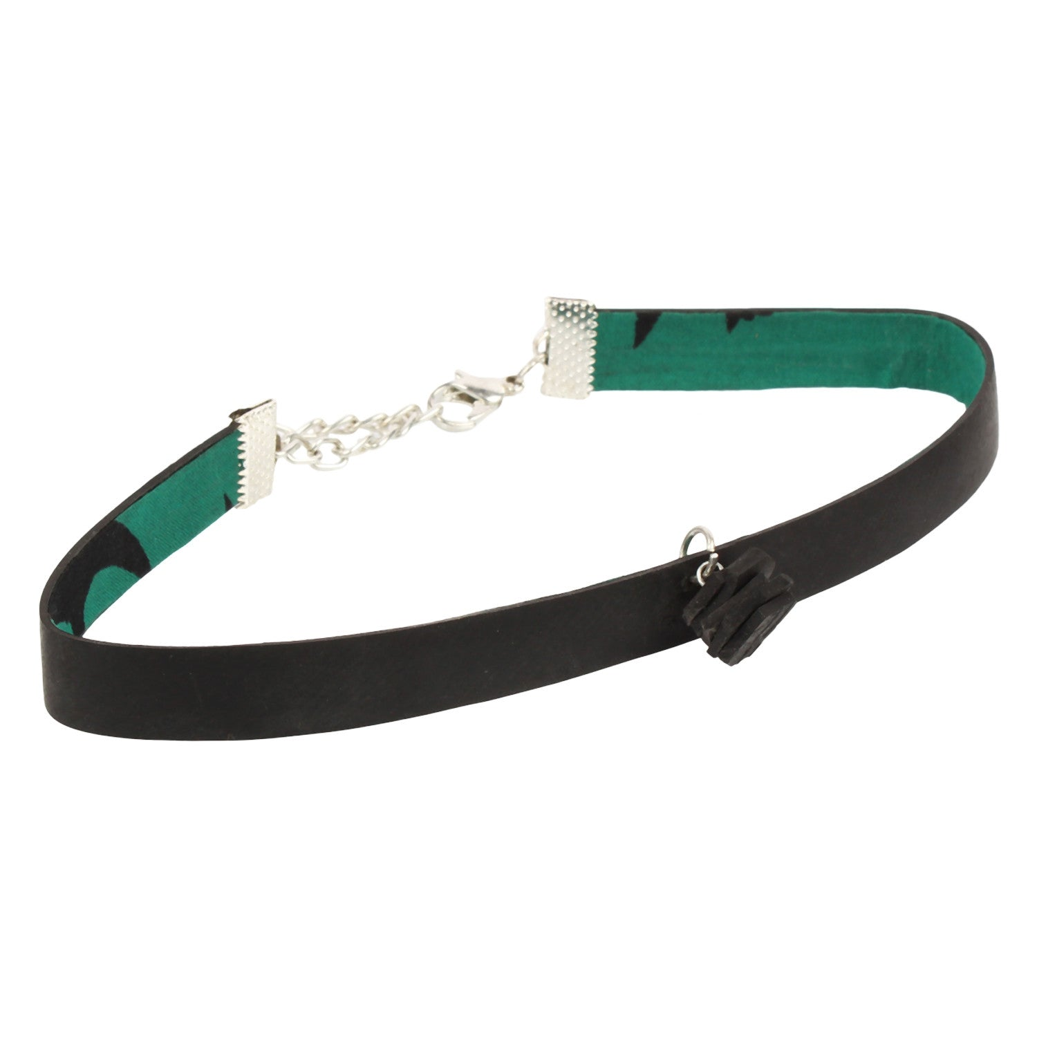 Tube Choker - Green The Map Upcycled Recycled Fairtrade Ecofriendly