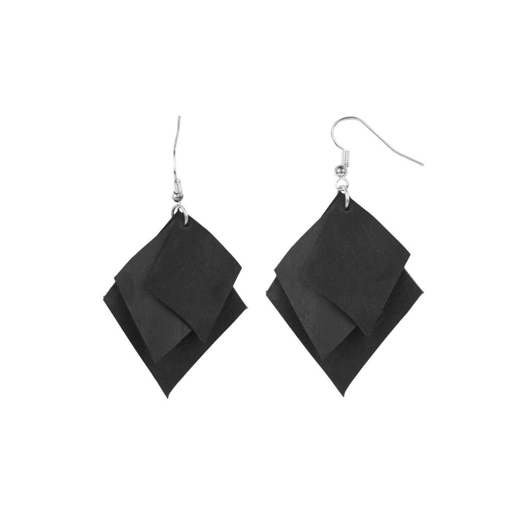 Rhombus Earrings - Green The Map Upcycled Recycled Fairtrade Ecofriendly