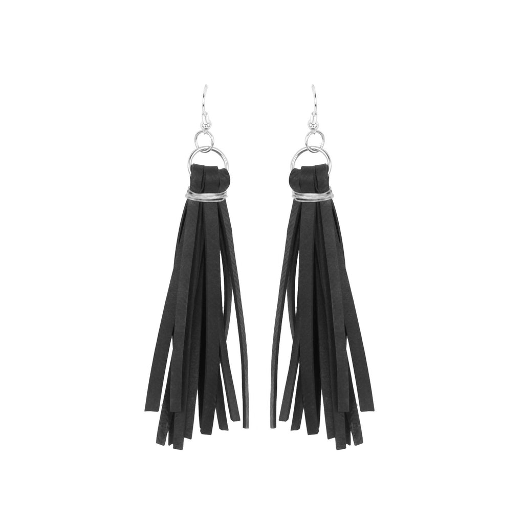 Tube Fringe Earrings