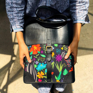 Tropical Edge vegan leather bag