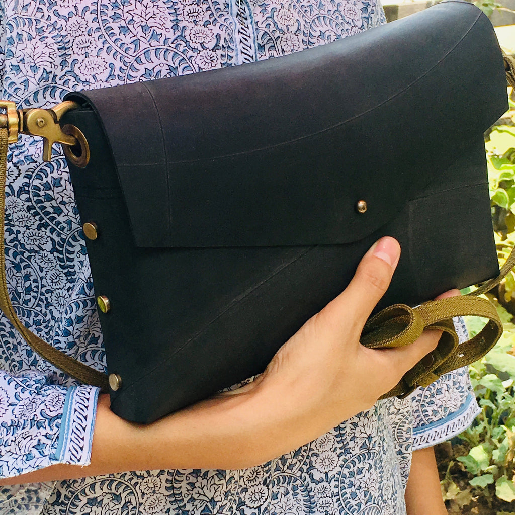 Envelope Vegan Leather Sling Bag