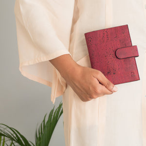 Cedar Passport Wallet - Maroon + Black - Buy Eco Friendly Products - Upycled, Organic, Fair Trade :: Green The Map