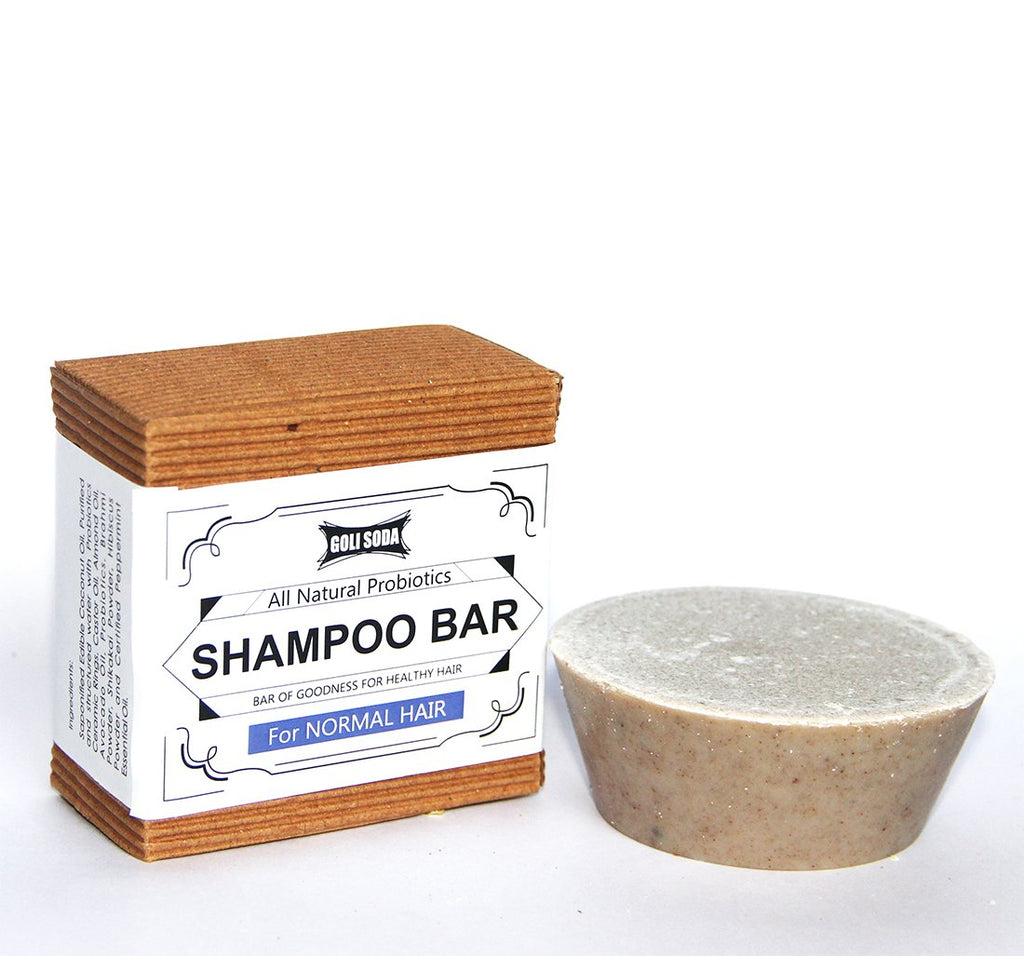 Goli Soda - Probiotics Shampoo Bar For Normal Hair 90 gm -  All Natural/Biodegradable/Non Toxic/Cruelty Free/Palm Oil Free