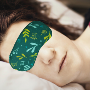 Organic Eco Friendly Eye Mask - Dreamy Leaves - Green The Map Upcycled Recycled Fairtrade Ecofriendly