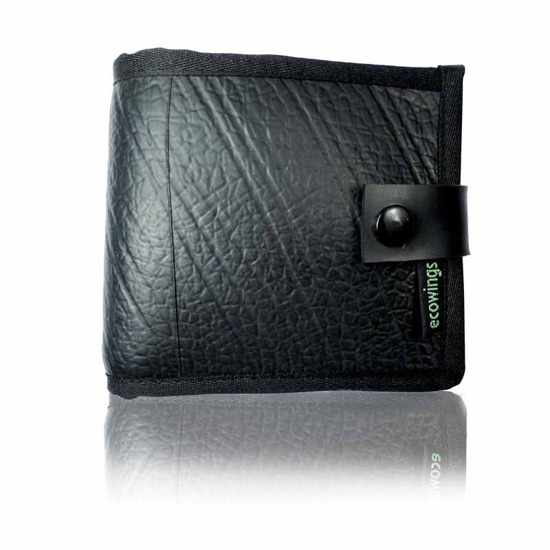 """Black-Buck""-Men's Wallet - Green The Map Upcycled Recycled Fairtrade Ecofriendly"