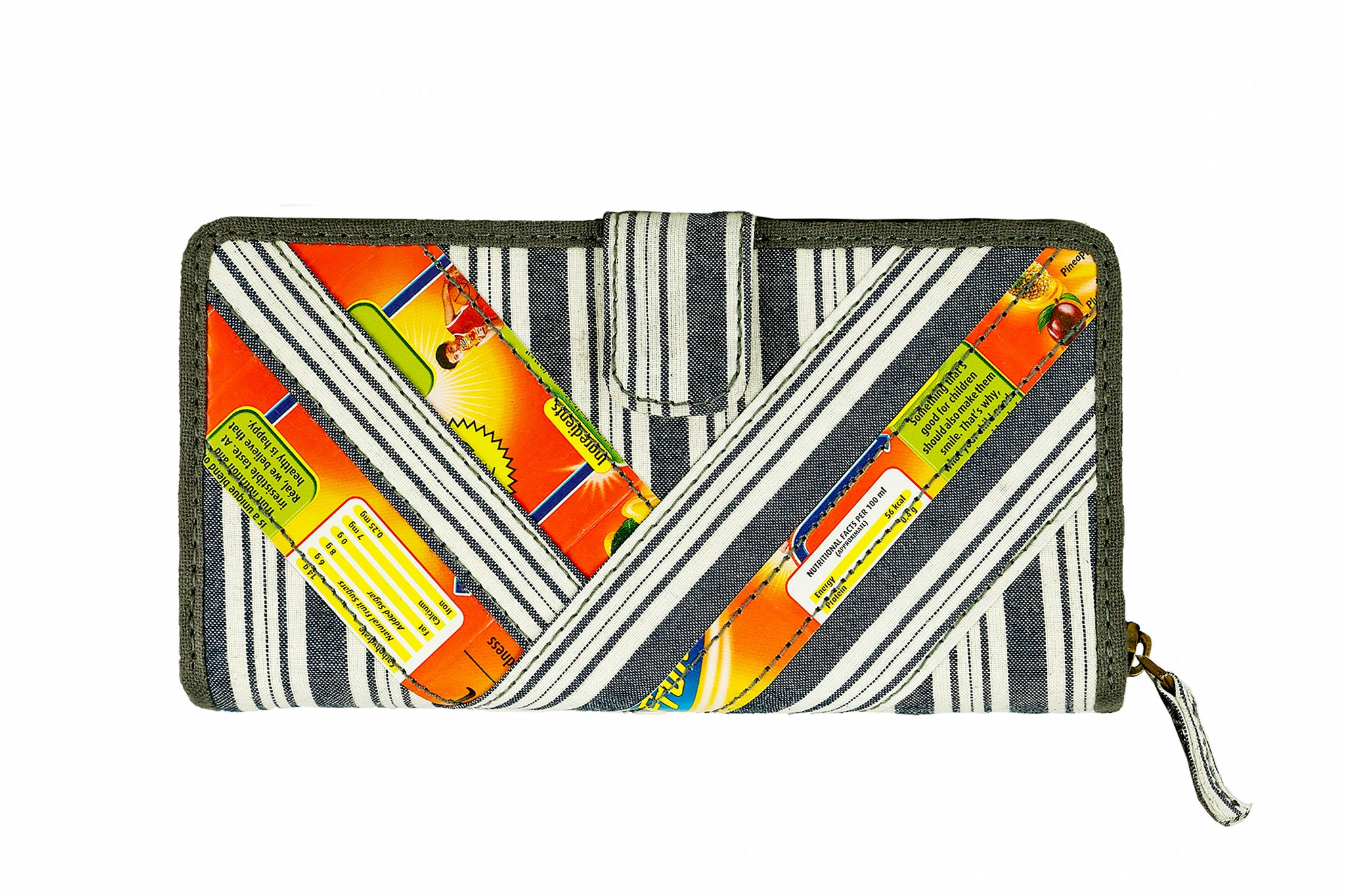 Upcycled Fabric and Tetra Clutch
