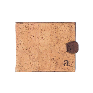 Arden Minimal Wallet - Natural + Brown - Buy Eco Friendly Products - Upycled, Organic, Fair Trade :: Green The Map