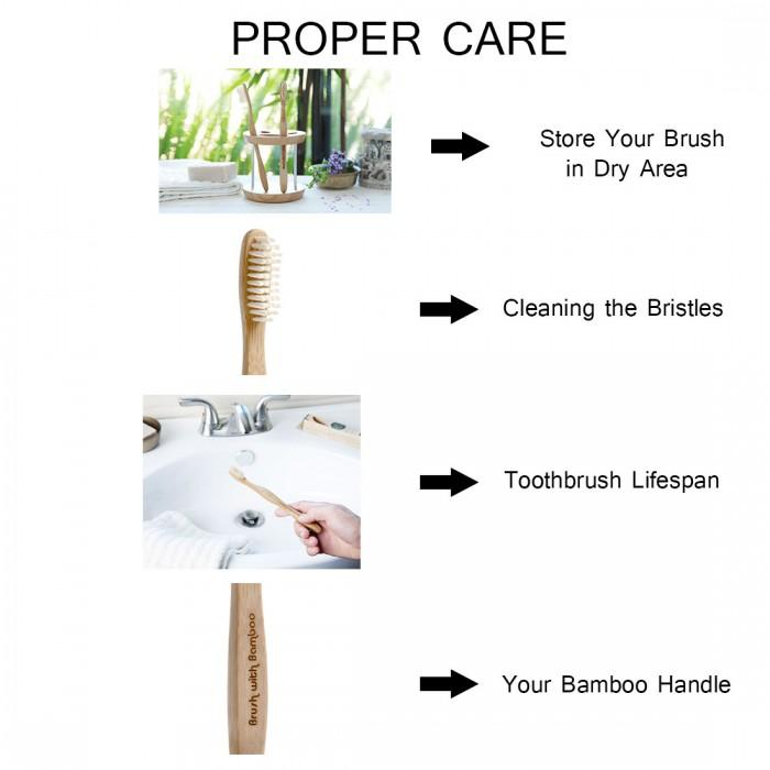 Bamboo Tooth brush - Green The Map Upcycled Recycled Fairtrade Ecofriendly