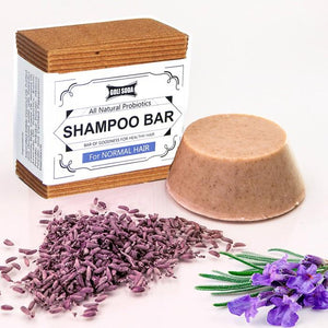 Probiotics Shampoo Bar For Normal Hair 90 gm -  All Natural/Biodegradable/Non Toxic/Cruelty Free/Palm Oil Free - Green The Map Upcycled Recycled Fairtrade Ecofriendly