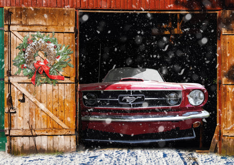 65 Mustang GT Barn Find Christmas card