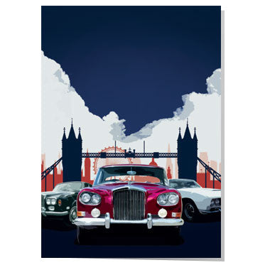 British classic cars in London card