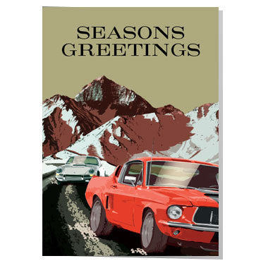 Classic Mustang Christmas card