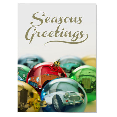 Classic car Christmas card