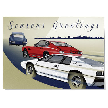 Classic cars Christmas card
