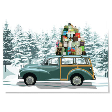 Morris Minor Christmas card