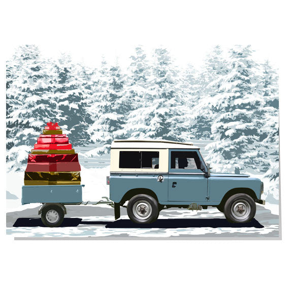 Land Rover Christmas card