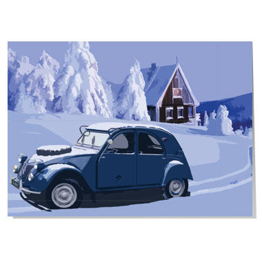 Citroen 2CV Christmas card
