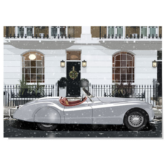Jaguar XK120 Christmas card