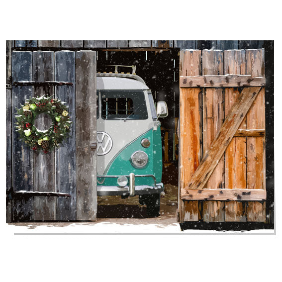 VW Camper Van Christmas card
