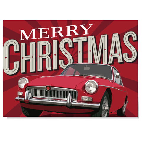 Merry Christmas MGB Christmas card