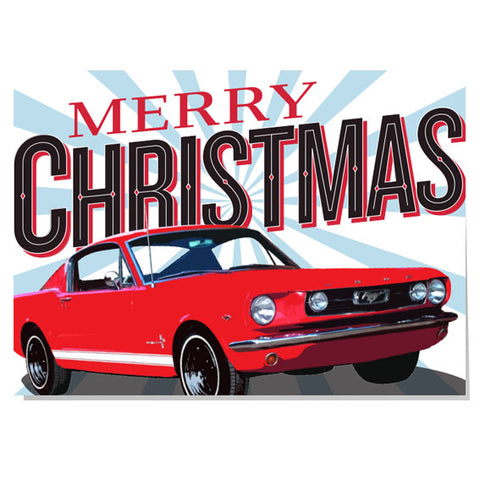 Merry Christmas Mustang Christmas card