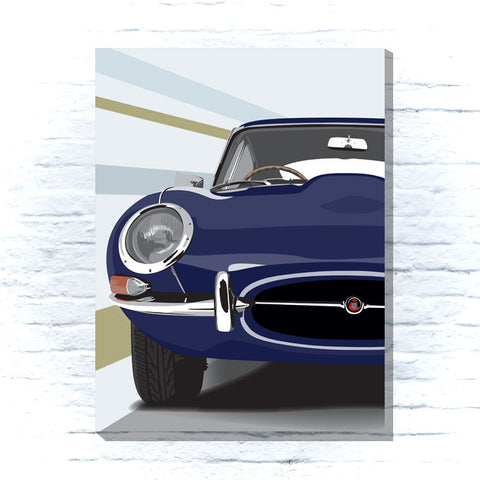 Jaguar E-type canvas