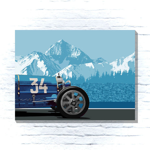Bugatti racing car canvas