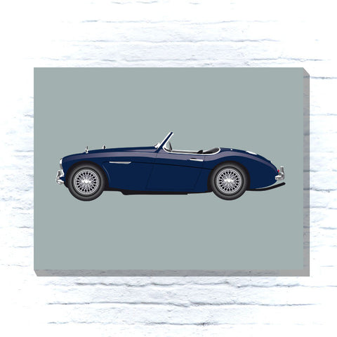 Austin Healey 3000 blue Canvas
