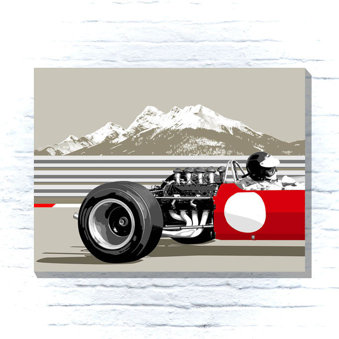 1960's Grand Prix car canvas