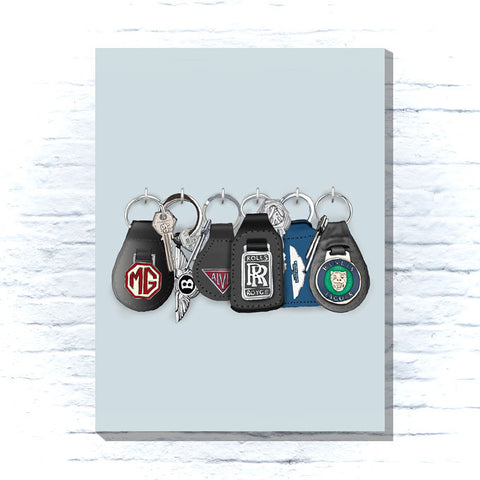 Classic car keys canvas