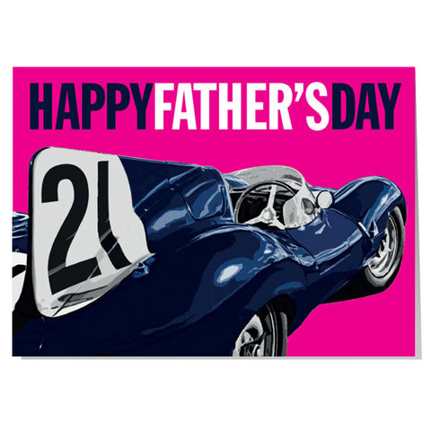 Jaguar D-type Father's day card