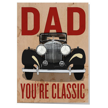 Rolls Royce Father's day card