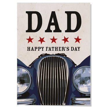 Jaguar XK120 Father's day card