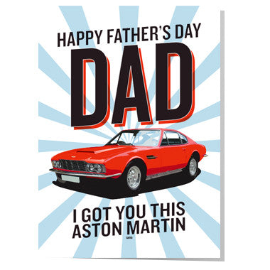 Aston Martin Father's day card