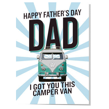 Camper Van Father's day card